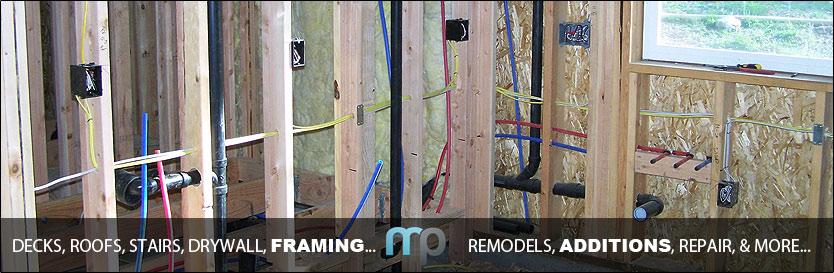 Residential interior remodel Framing addon